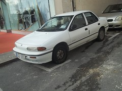 Isuzu Gemini (occama) Tags: old white car japanese malta saloon rare gemini 1990s isuzu