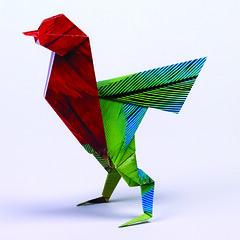 Origami création - Didier Boursin - L'oiseau tropical