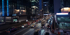 Central (Wim Storme) Tags: street city night hongkong traffic central