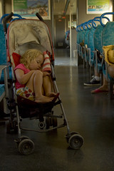 Off to Dream Land (paulquance) Tags: portrait portugal girl train daughter fran frances vilamoura pushchair quance facesofportraits