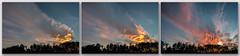 Sunset Triptych (HubbleColor {Zolt}) Tags: sunset sky clouds triptych unitedstates maryland glenburnie 14mm thomasadixonjraircraftobservationarea