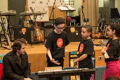 Josh Groban Delivers Instruments with Little Kids Rock (littlekidsrock) Tags: newyorkcity light photography keyboard mark manhattan keith ps foundation josh your find 34 groban jaworski nycdoe littlekidsrock hejna