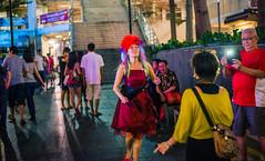 Dance (drumbunkerdragon) Tags: woman fun 50mm dance nikon singapore chinatown lol wig cny f18 d600