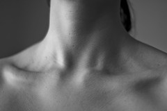 273/265 (~Abby) Tags: blackandwhite bw project neck shower skin body calm clean 365 collarbone abigailroseking
