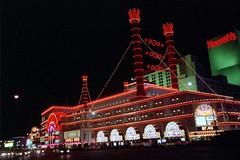 Las Vegas, Nevada USA (scuba_dooba) Tags: las vegas light usa night america dark darkness nevada low scan strip scanning plustek vuescan opticfilm 7600i