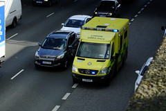 LAS 7887 (kenjonbro) Tags: uk england yellow stone kent ambulance mercedesbenz dartford sprinter londonambulanceservice 7887 a282 thebrent worldcars dartfordrivercrossing kenjonbro lc61kvs fujifilmfinepixhs50exr