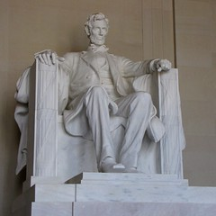 Statue of Abraham Lincoln (SchuminWeb) Tags: park statue dc washington chair memorial ben nps district web president parks columbia abraham september national lincoln lincolnmemorial service marble abe nationalparkservice abrahamlincoln 2013 schumin schuminweb
