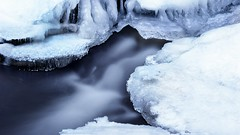 Ice over Buttermilk falls (Bereno DMD) Tags: longexposure winter white mountain snow cold reflection texture ice nature water photoshop river season frozen photo timelapse still cool stream cloudy connecticut widescreen newengland hike adventure trail blustry longshutter
