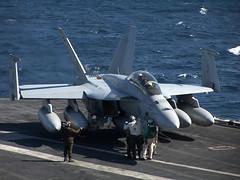 VFA-213 F/A-18F Super Hornet BuNo 166681, AJ-203 (skyhawkpc) Tags: usmc airplane aircraft aviation navy marines boeing naval usnavy 2009 usn usmarines superhornet fa18f cvn71 usstheodoreroosevelt vfa213blacklions aj203 166681