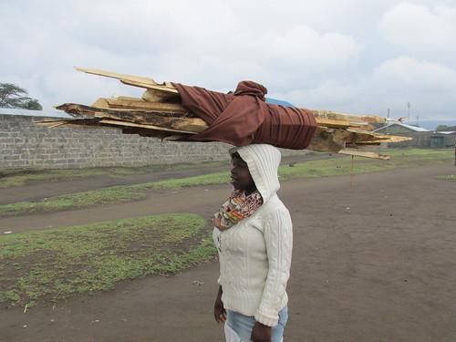 Corvée de bois, Nakuru, Kenya
