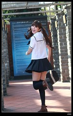 nEO_IMG_DP1U1459 (c0466art) Tags: school light portrait cute girl smile female canon naughty happy energy uniform asia pretty sweet outdoor quality gorgeous mind lovely charming pure hight 1dx c0466art 小予兒