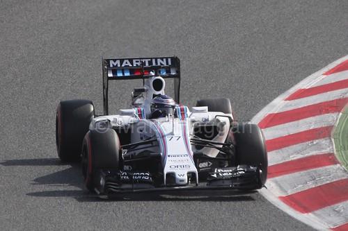 Valtteri Bottas in the Williams during Formula One Winter Testing 2015