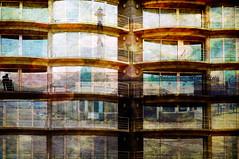 terrassen (roberke) Tags: windows building architecture photoshop reflections outdoor digitalart creative textures creation photomontage layers gebouw lagen textuur reflecties vensters