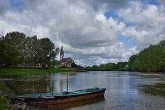 Au pays de la Loire (Charlottess) Tags: eau mai loire glise fleuve rivage maineetloire nikon5300