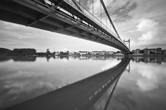 Suspension (alex notag) Tags: bridge blackandwhite bw noiretblanc pont suspendu serrire
