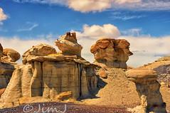Durante Rock (Jim Johnston (OKC)) Tags: newmexico desert hike durante rockformations bistibadlands alienworld ahshislepah