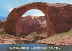 postcard of Rainbow Bridge National Monument, Utah USA (johnjennings995) Tags: usa utah postcard rainbowbridge
