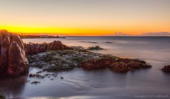Sunset with a touch of green (AB.PhotoZA) Tags: sunset green beach yellow sunrise canon southafrica sand colours capetown canon5d abphotoza