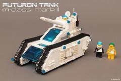 """White Tiger"" | Futuron Tank (Andrea Lattanzio) Tags: bay tank lego space tiger hangar workshop whitetiger minifigures tigertank legospace classicspace futuron foitsop legotank norton74 legofuturon"