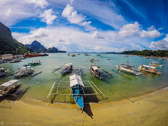 El Nido (chelodiaries) Tags: ocean road sea summer vacation sky food cloud dog sun mountain beach water beautiful clouds plane boats island boat sand place coconut philippines go places el hut snorkling mezzanine pro nido coconuts hopping nipa palawan gopro