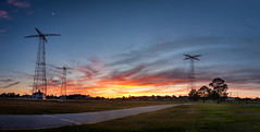 Airborne School Jump Towers, EXPLORED (Igor Grigorjev) Tags: jump tower sunset panorama pano airborn fort benning school week