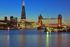 Generazioni / Generations (Tower Bridge and The shard, London, United Kingdom)(Explore!!!) (AndreaPucci) Tags: uk london thames towerbridge explore canoneos60 theshard andreapucci
