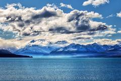 Mt Cook, in blue (stewartbaird) Tags: blue newzealand lake mountains fall nature clouds landscape nationalpark mtcook tekapo mountcooknationalpark