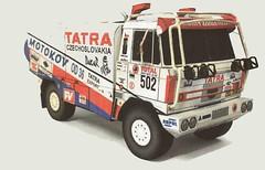 Tatra 815 Dakar Truck Ver.4 Free Vehicle Paper Model Download (PapercraftSquare) Tags: truck dakar tatra 153 tatra815
