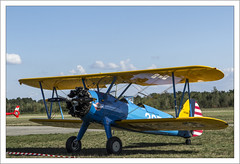 Boeing Stearman N75MR (Francis =Photography=) Tags: boeingstearmann75mr boeing stearman biplan militaire military model75 training avion aircraft airplane canon600d strasbourg sigma120400 army us bordurephoto fondblanc france propeler aviondentranement vhicule hlice extrieur
