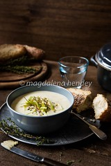 leek and potato soup with crispy leeks and thyme (magshendey) Tags: autumn soup homecooking comfort warming leeks foodphotography foodstylist