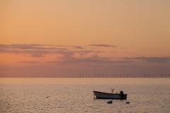 Sunset by the Coast (Infomastern) Tags: sunset sea sky water boat himmel vatten bt hav hllviken solnedgng fiskehoddorna