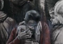 DSC_6295+web (jiri.metod) Tags: girl chalk women drawing mixedmedia charcoal acryl conte