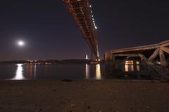 Under the bridge (Pconde) Tags: bridge portugal night river nikon nightshot lisbon under tagus pconde d7200