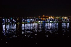 cropped best Large 100% renewable energy now OLB LED light panels raft up and refinery at Luminary flotilla at Break Free PNW 2016 photo by Alex Garland img_2100 (Backbone Campaign) Tags: water justice washington energy kayak break action politics protest creative paddle shell free social demonstration oil change wa environment activism anacortes campaign pnw refinery climatechange climate tesoro artful backbone renewable refineries 2016 kayaktivist kayaktivism breakfreepnw