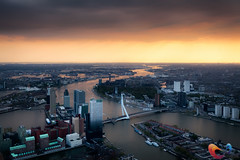 Rotterdam from the sky (www.Royz.nl) Tags: sunset skyline rotterdam thenetherlands cities cityscapes aerial daytime how geolocation geocity camera:make=canon exif:make=canon geocountry camera:model=canoneos5dmarkii geostate exif:model=canoneos5dmarkii exif:lens=ef1740mmf4lusm exif:focallength=40mm exif:aperture=45 exif:isospeed=640 aerialcitiescityscapesdaytimehowrotterdamskylinethenetherlandssunset