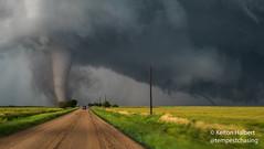 Disaster Road 1 (keltonhalbert) Tags: city sky storm nature field weather wheat great kansas dodge thunderstorm plains storms tornado severe violent thunderstorms stormchasing minneola tornadoes