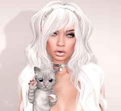 Hello Kitty (RoxxyPink) Tags: life pink white fashion ava cat hair blog avatar acid style blogger avi sl secondlife blogging second crown styling roxxy meshhead slblog fashionuschies roxxypink