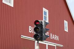 nope (timp37) Tags: light sign barn traffic farm may indiana fair oaks signal newton nope birthing 2016