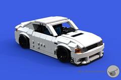 Tanio Kuma (C1) front ariel-ish - 10-wide - Lego (Sir.Manperson) Tags: lego jdm kuma moc ldd miniland ownbrand tanio ldd2povray bluerender