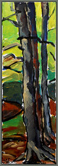 tree (Jocawe) Tags: brown black green beige availablelight canvas 1855 dpp acryl ocre canoneos450d paintingpleinair