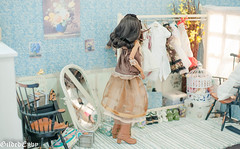 What to wear (Micheescloset) Tags: fashion ball asian doll dress handmade room tan lolita bjd envy gilded abjd jointed dollroom