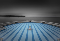 Lido (Robgreen13) Tags: ocean uk longexposure seascape rain waterfront cloudy devon lido stopper plymouthhoe ndfilters tinside plymouthsound