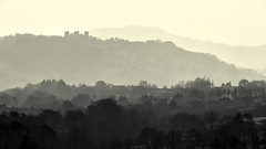 Riber Castle view (Luke Hanna) Tags: uk castle landscape haze derbyshire hills layers matlock riber