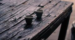Morning Tea (pixxstudios) Tags: tea cups monochrome