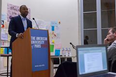IMG_5094 (theamericanuniversityofparis) Tags: paris fullhouse speaker poet writer blackhistorymonth combes studentactivities tanehisicoates