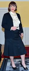 Birgit022392 (Birgit Bach) Tags: rock skirt blouse button satin cardigan bluse strickjacke knpfe