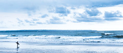 sehnsucht (maikepiel) Tags: ocean travel blue sea sky bali white seascape silhouette clouds meer waves surfer himmel wolken blau weiss longing wellen sehnsucht