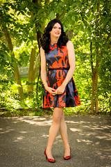 Red and Blue 4 (Hannah McKnight) Tags: tgirl transgender transgirl model crossdress crossdresser stilettos