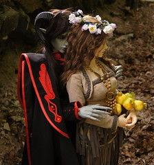 Hades and Persephone (ves-chan) Tags: soom iplehouse carina eid megagem ender grey hades persephone photostory bjd doll outdoor forest