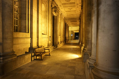 Glowing Corridor (A Guy Taking Pictures) Tags: corridor orange glow night midnight building floor sony a6000 camera
